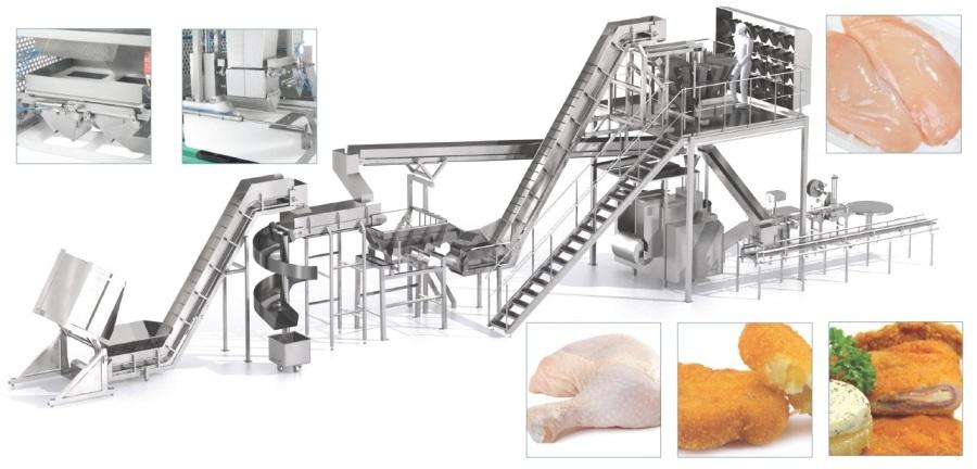 Оборудование для переработки рыбы, оборудование для переработки мяса, оборудование для разделки мяса, разделка свинины, оборудование для переработки птицы, оборудование для забоя птицы, оборудование для производства блинов, оборудование для обработки овощей, упаковка мяса, упаковка в вакуум и газ, линии для упаковки свинины, птицы, упаковка мяса в вакуум и газ, линии разделки мяса, птицы, рыбы, нарезки овощей, производства салатов, продажа специй оптом, сухие маринады.