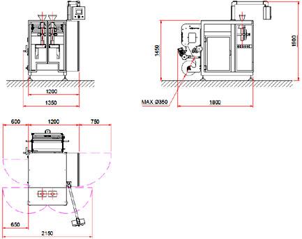 Вертикальный фасовочно-упаковочный автомат c2p
